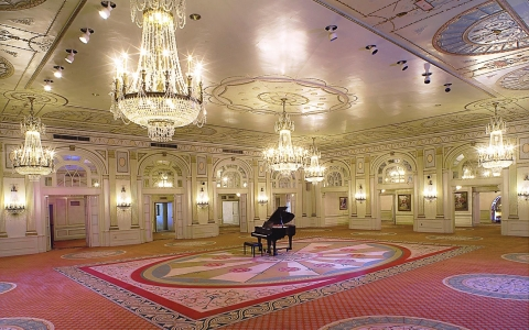 Crystal Ballroom with piano