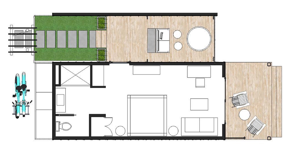 Waterfront 2D floorplan