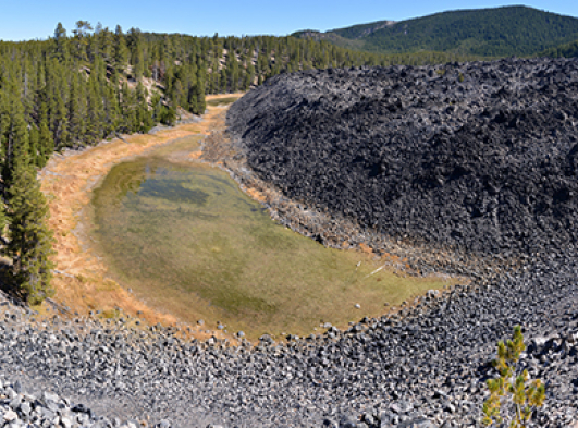 newberry volcanic ashes in bend oregon
