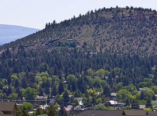 pilot butte volcano in bend oregon