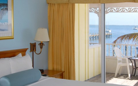 yellow curtains and balcony room view