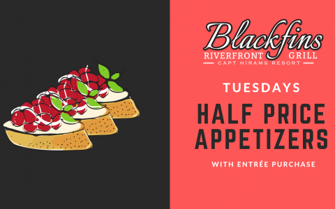 SUMMER SPECIALS | Tuesday 1/2 priced Appetizers