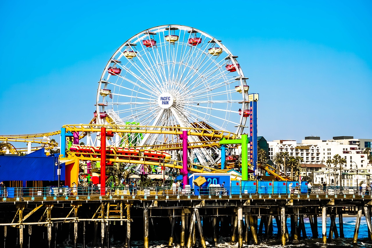 Ferris wheel at Santa Monica Pier