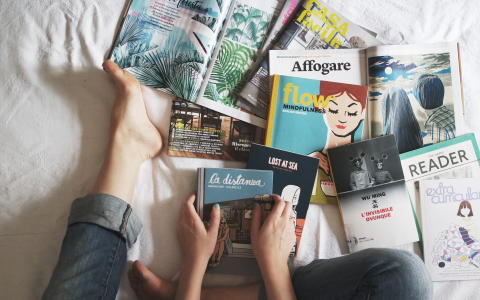 magazines and books