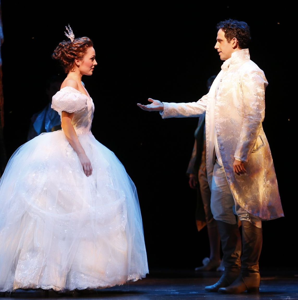 Prince Asking Cinderella to Dance in a Scene From Rogers and Hammersteins Cinderella