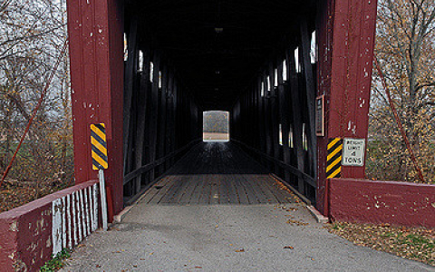 Roann Covered Bridge in Indiana
