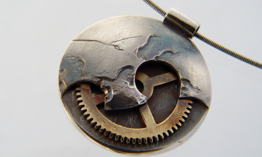Clockwork Moon Pendant