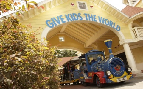 Front of Give Kids The World Sign