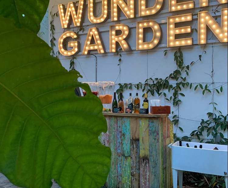 light up wundergarden bar sign at circa 39 miami beach