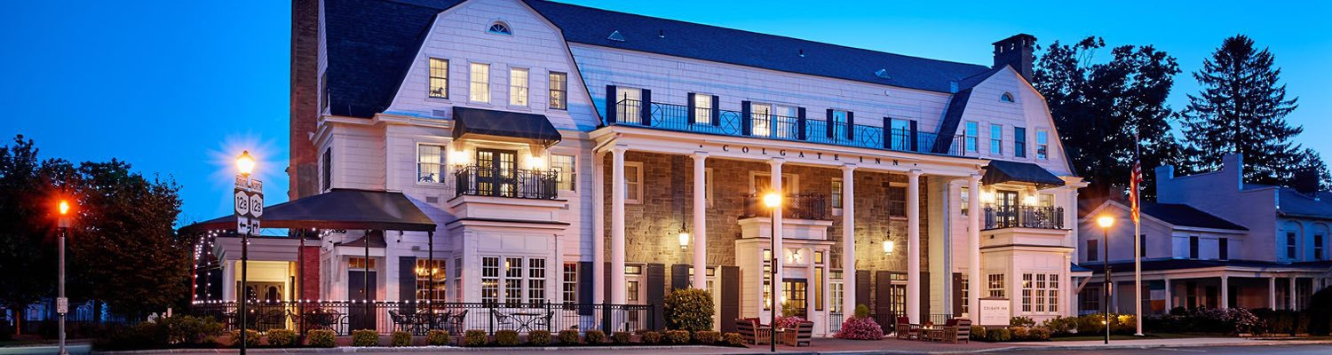 colgate inn exterior at night