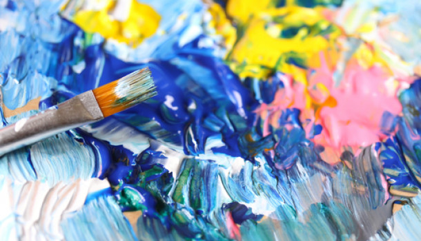 paint brush and palette