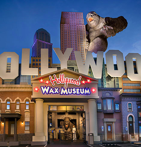 Entrance to the Hollywood Wax Museum