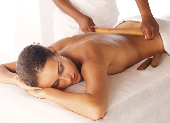 a woman getting a massage treatment