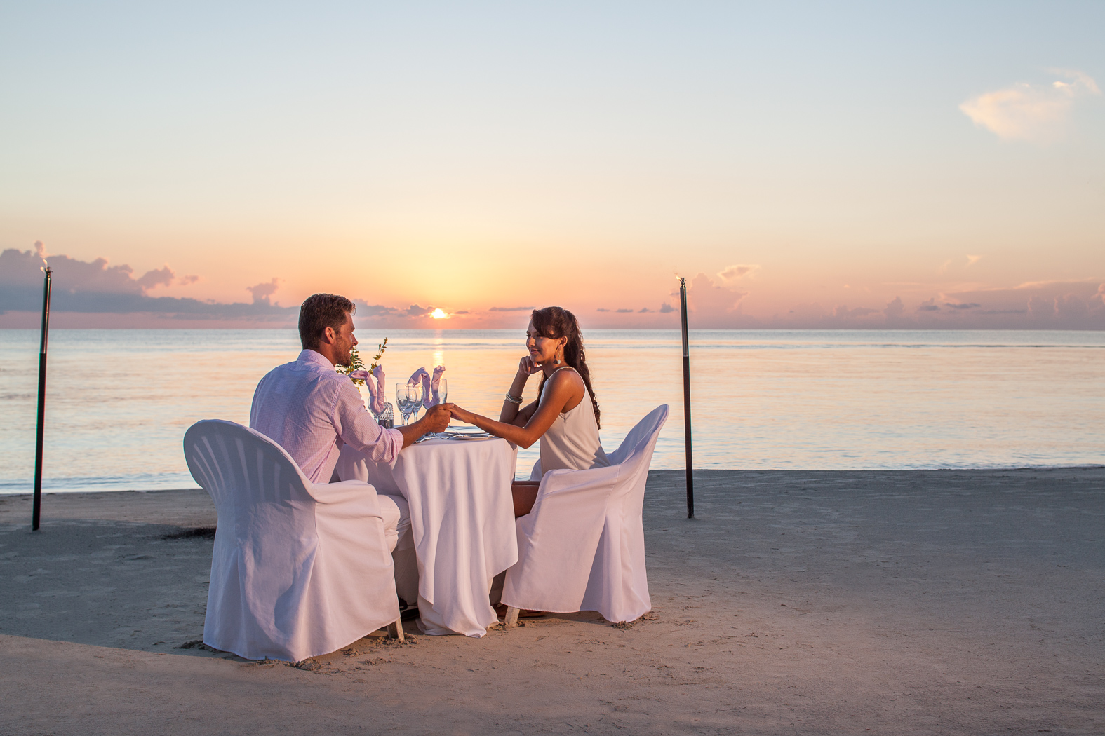Sunset Dining by The Beach