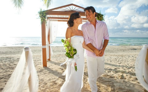 Beach Wedding at Couples Swept Away