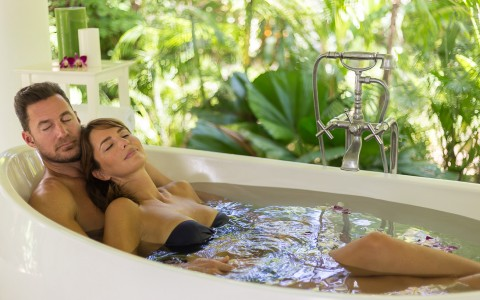 Oasis Spa Soaking Tub at Couples Tower Isle