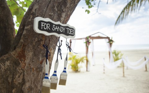 Special Wedding Touches at Couples Swept Away