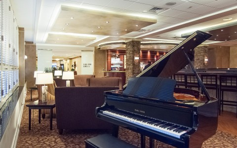grand piano at the piano bar