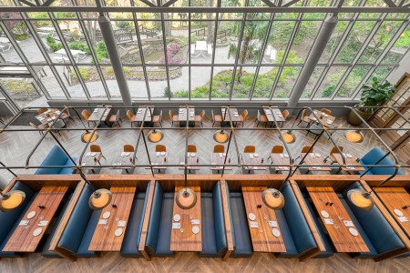 above view of dining spaces at parkwoods