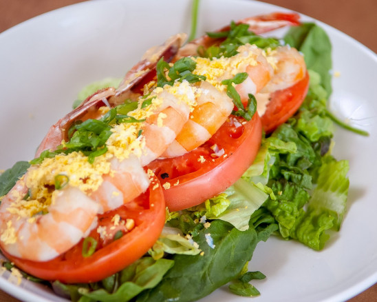 A shrimp salad