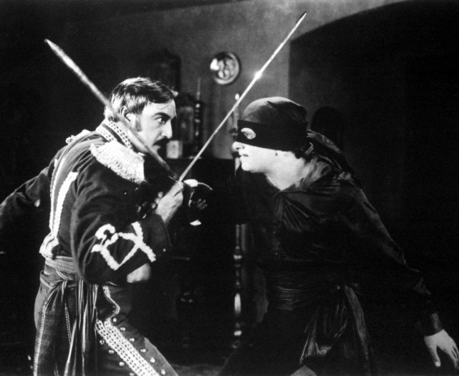 Dueling Scene from 1920 Movie The Mark of Zorro