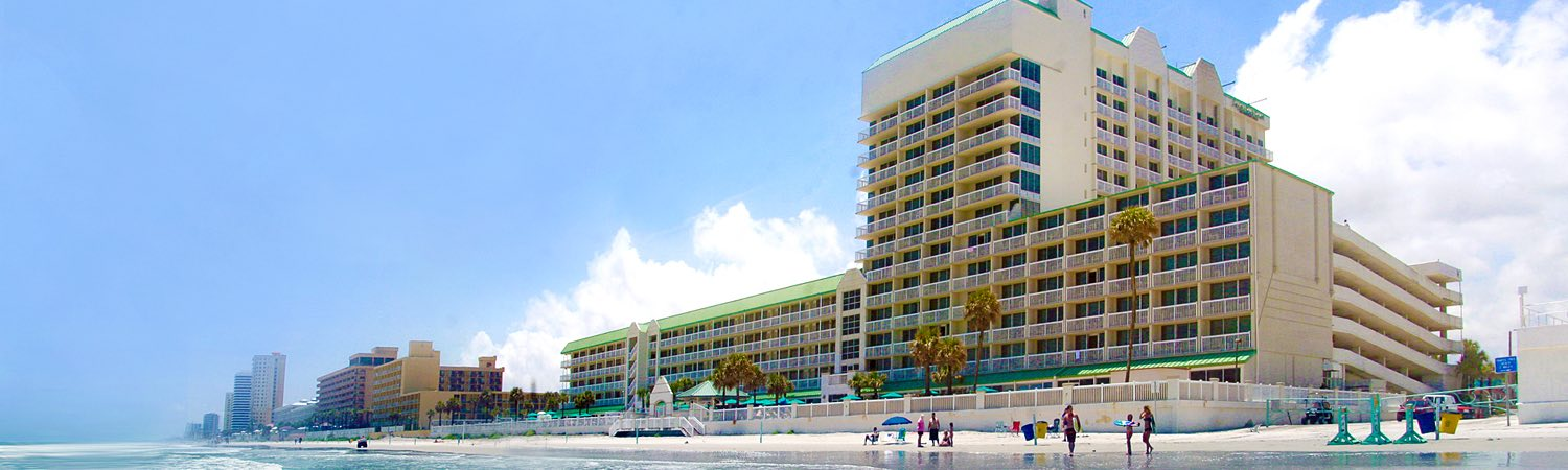 Hotel building on the beach