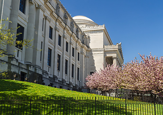 Lawn of Brooklyn museum