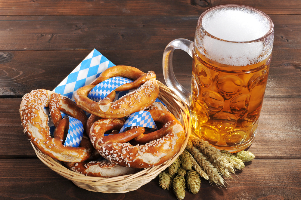 pretzels and beer oktoberfest