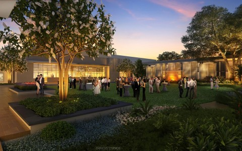 Digital Rendering for DoubleTree Orlando Seaworld Outdoor Event Venues at night
