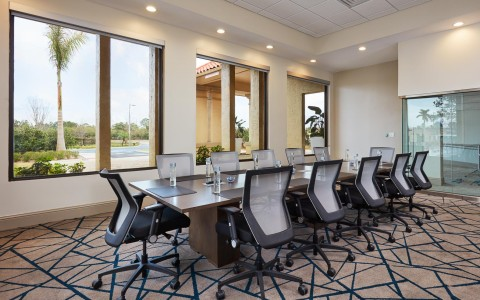 board room table at Doubletree By Hilton Orlando Seaworld