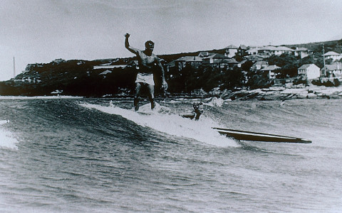 Historical Surfing Photo