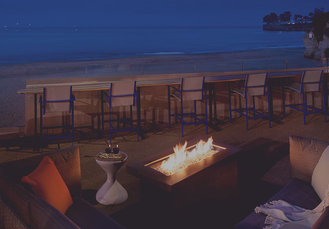 Outdoor fire pit at Dream Inn