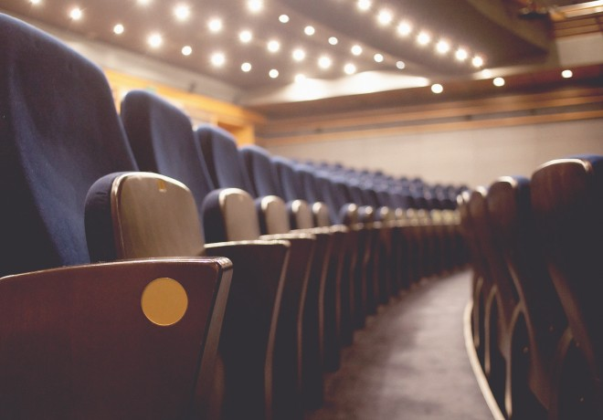 Close up of seats in a Theater