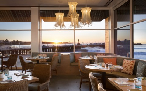 Coastal Dining Room at Sunset