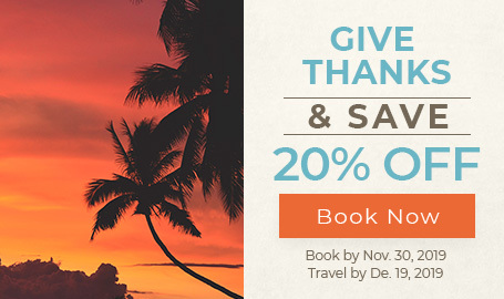 give thanks and save 20 percent click to book now