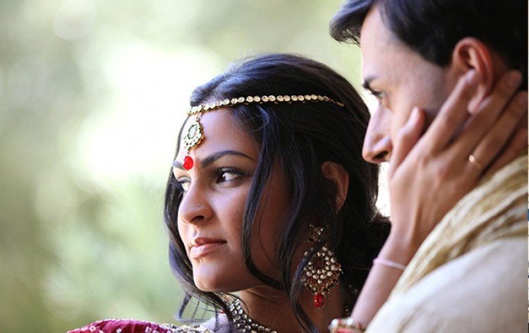 Indian couple getting married