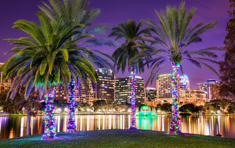 It's an Orlando Holiday Celebration at Lake Eola Park