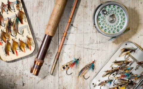 fly fishing lures reels and rod