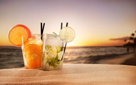 cocktails on beach