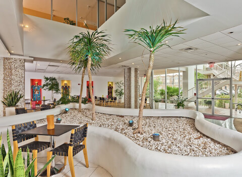 the lobby at el tropicano hotel