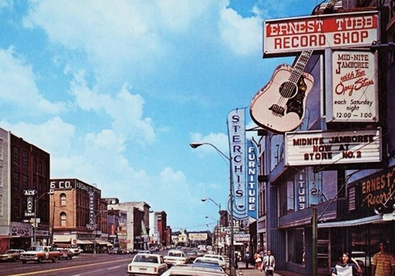 vintage photo of Broadway Street in Nashville