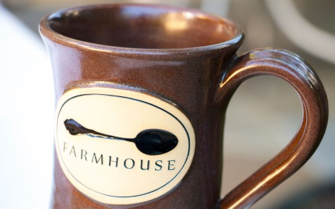 Brown Farmhouse coffee mug