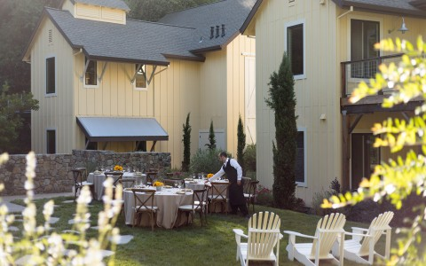 Farmhouse inn outdoor event space