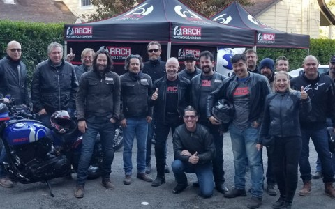 big group of motorcycle men