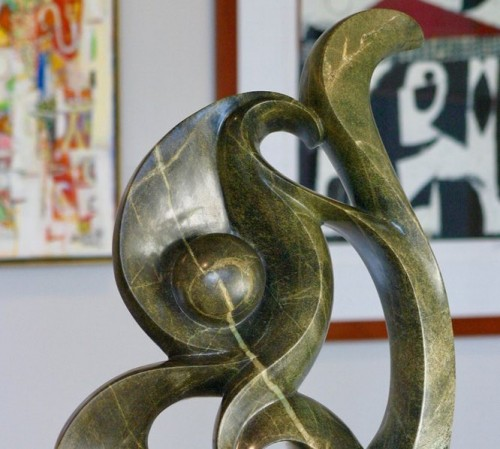 music note sculpture in gallery-1