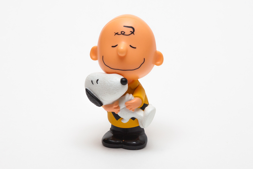 charlie brown and snoopy from the peanuts cartoon