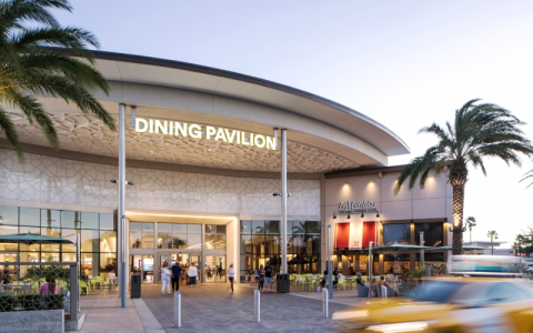 exterior of dining pavilion at the florida mall