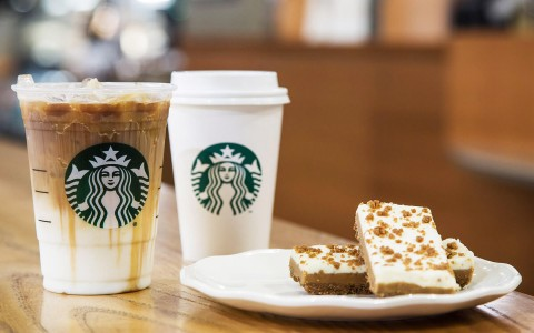 Starbucks drinks and pastries