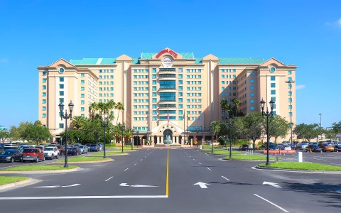 front of the Florida hotel in the daytime