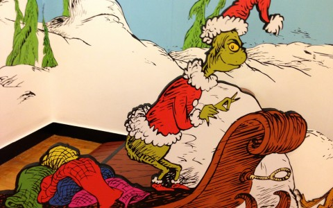 The Grinch on his sleigh